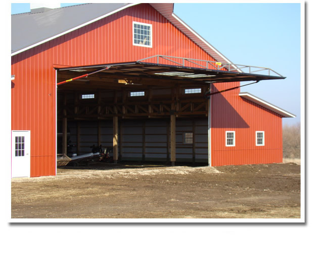 Big Red Shed - Open Hydraulic Door