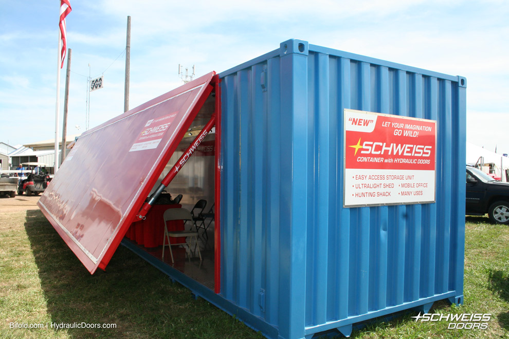 Container Door Stories Jet Hangar Mobile Show Container
