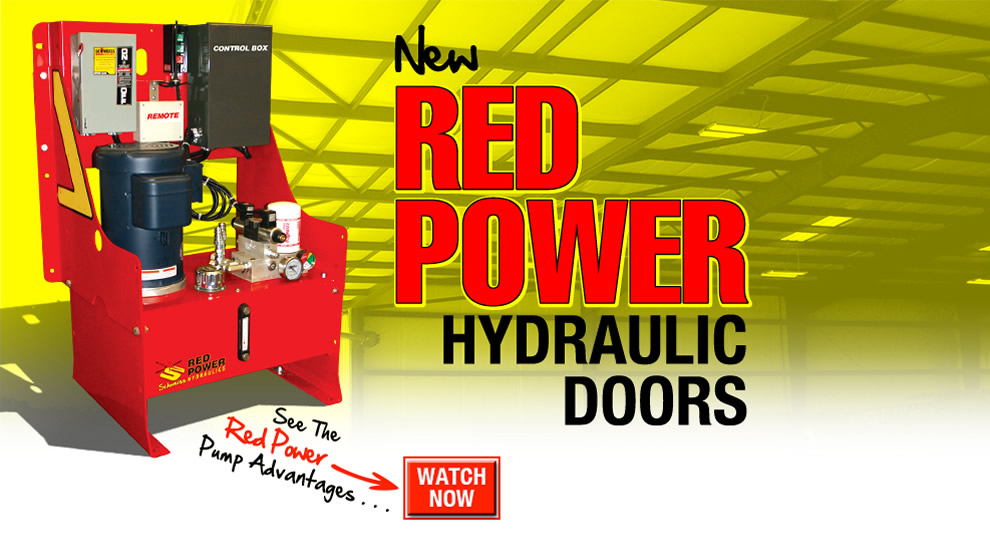 Red Power Hydraulic Doors