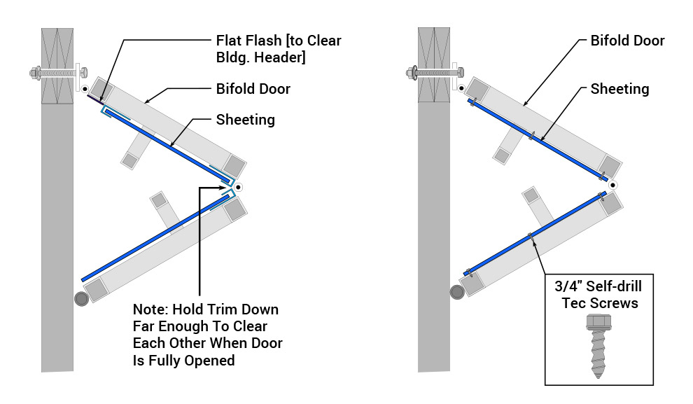Sheeting Amp Siding For Vertical Bifold Doors Decorative