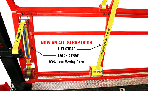 New and only from Schweiss: An ALL-STRAP DOOR!