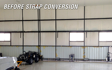 Lift Strap Conversion are available to retrofit your door