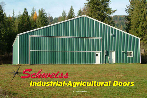 Schweiss Supplies Hydraulic and Bifold doros for Agricultural Uses
