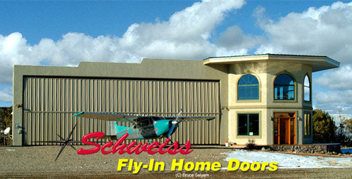 Airpark Photos: Airplane Hangar Doors for Fly-In Home Plane Storage