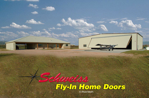 Plane Storage Building with Hydraulic Swing-out Door