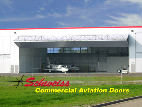 Corporate Airplane Hangar with bifold door