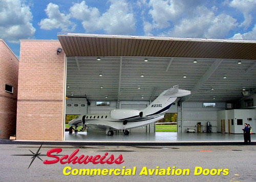 Corporate Aircraft Hangar with Bifold Doors