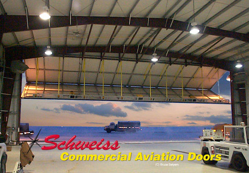 Large Aircraft Hangar Inside View in the Winter