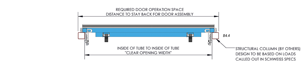 Door Plan View of Vertical Top Drive with Manual Latches