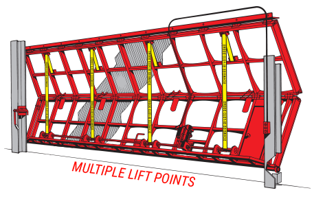 multiple lift points - schweiss strap lift doors
