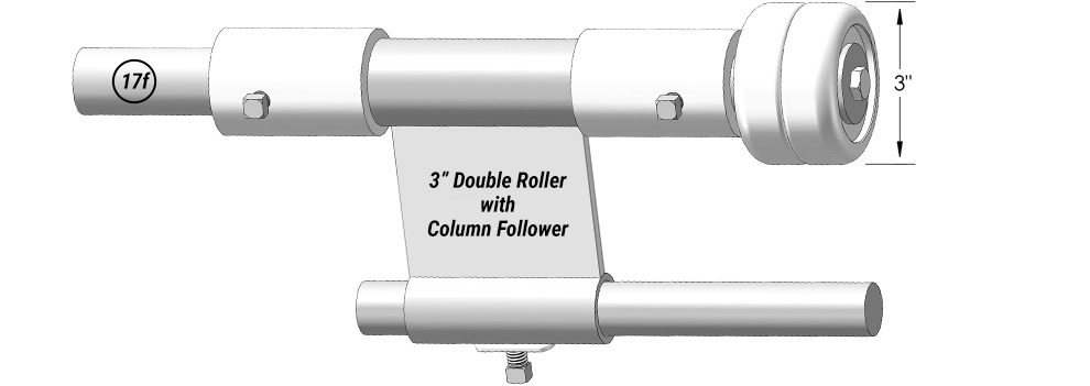 "3"" Double Roller with Column Follower for Airpark Hangar Doors"