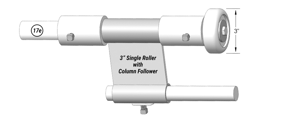 "3"" Single Roller with Column Follower for Schweiss Agriculture Doors"