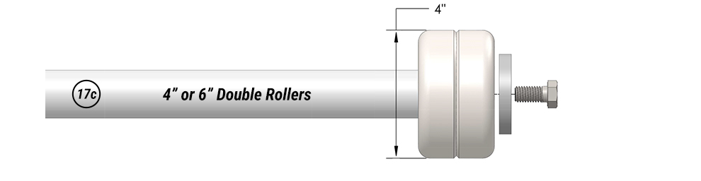 "4"" or 6"" Double Rollers for Schweiss Bifolding Military Doors"