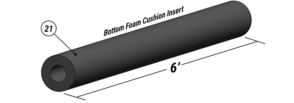 Bottom Foam Cushion Insert available for Schweiss Liftstrap Green Doors