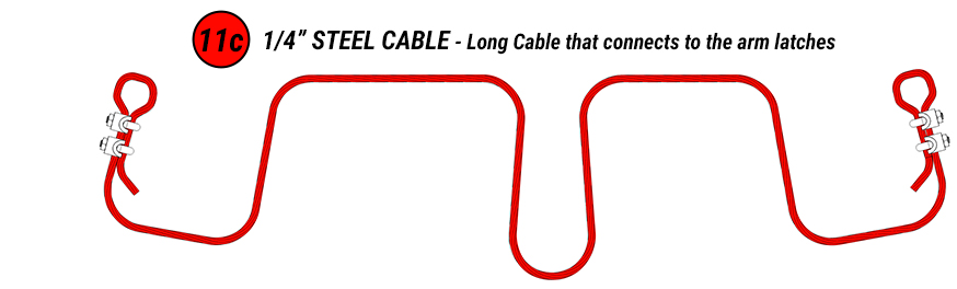 Steel Aircraft Cable . . . Center Strap Drum available on Fly-in Ranch Doors