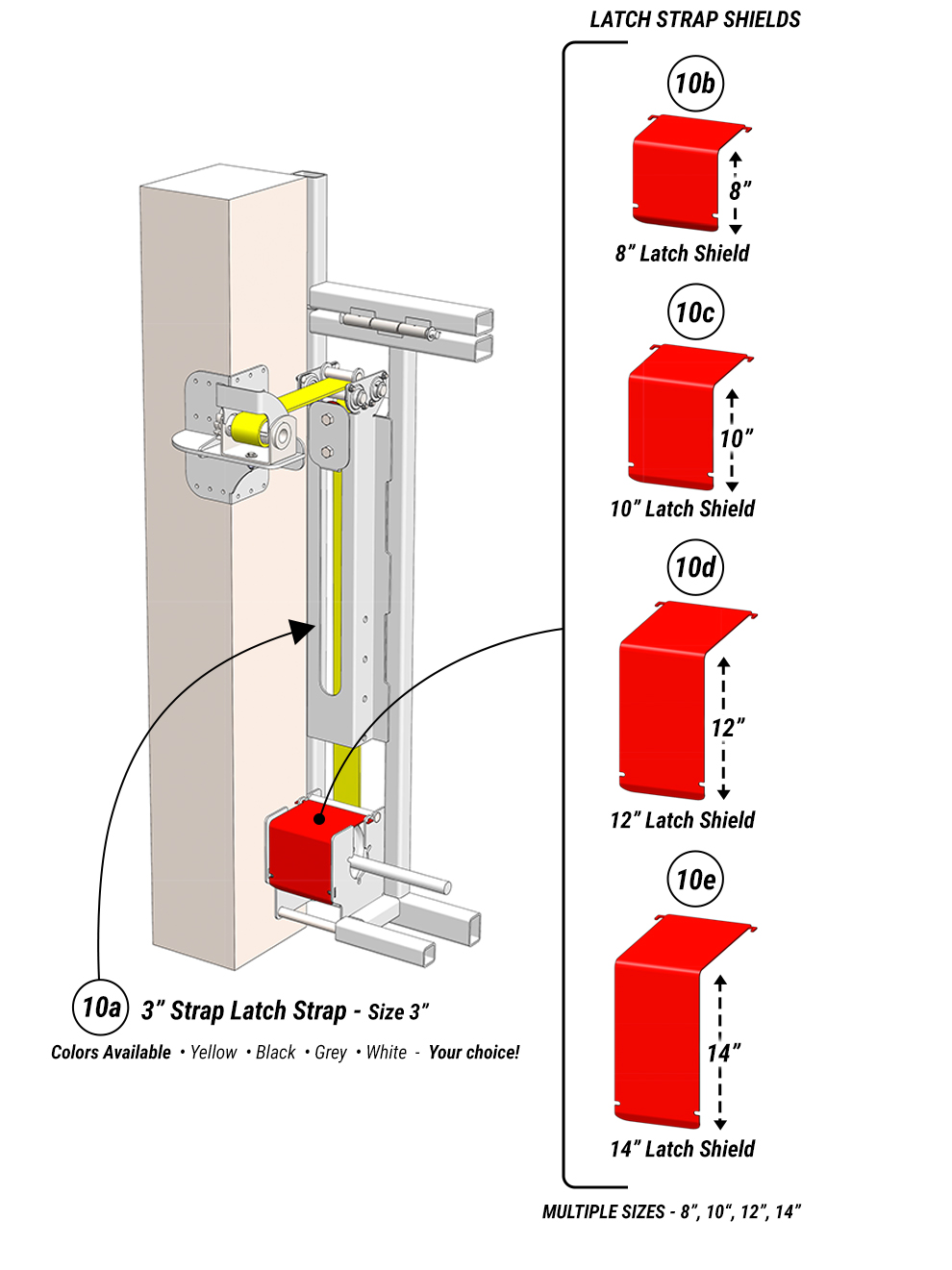 Latch Strap System for your Straplift engineered doors