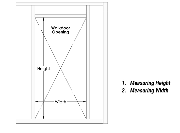Measuring Walkdoor Openings for Schweiss steel doors