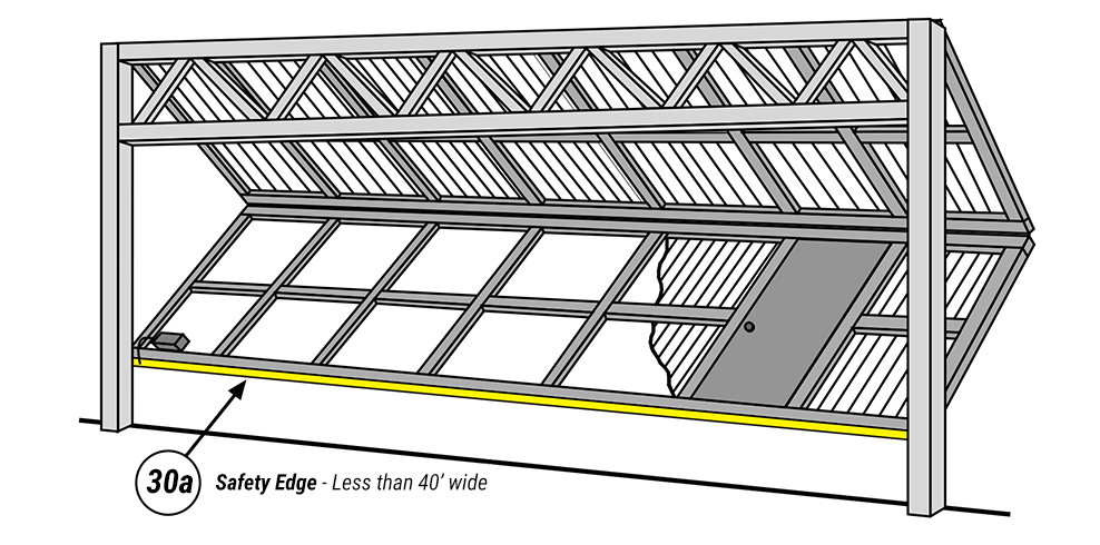 Single Safety Edge for Schweiss Garage Doors