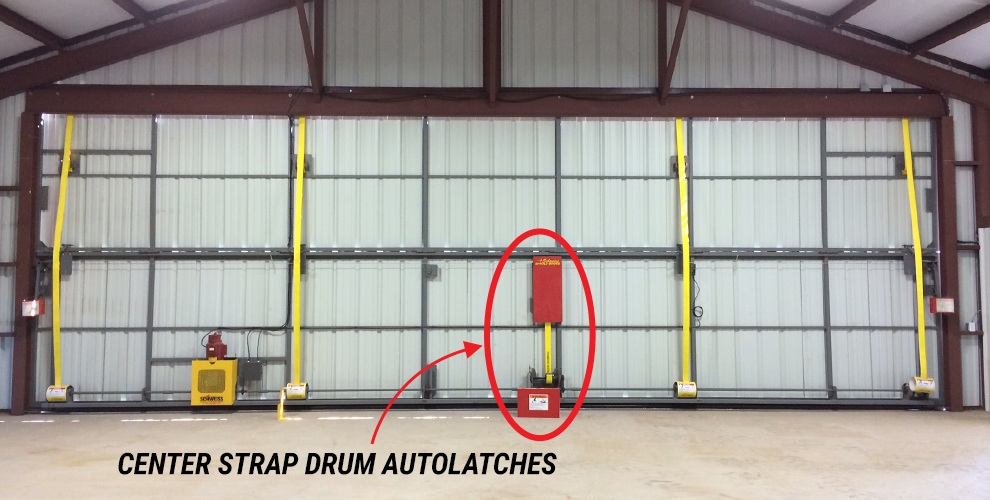 Bifold Center Strap Drum Auto Latches for your Farm Equipment Doors