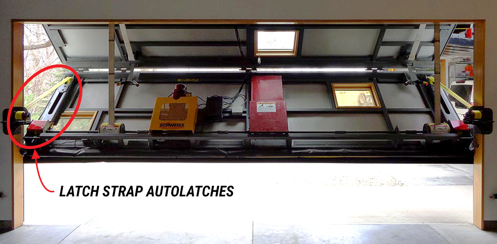 Auto-Latch for Schweiss Liftstrap Hangar Door