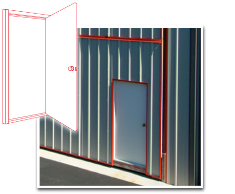Walkdoors in the Doorframe available for your Schweiss Hanagar Bifold Doors
