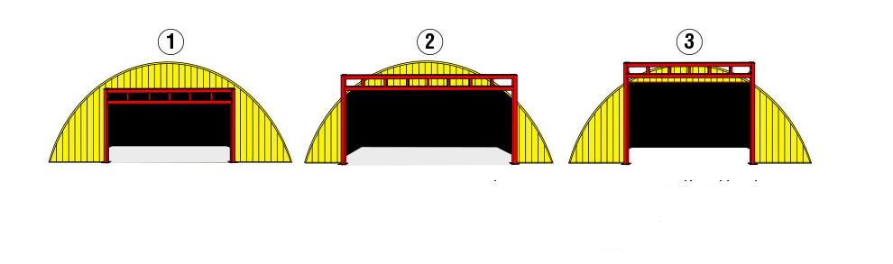 round roof buildings free standing header