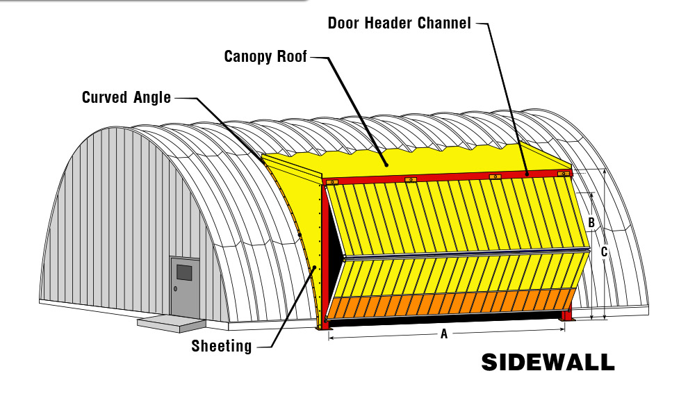 Round Roof Building with Bifold in Sidewall