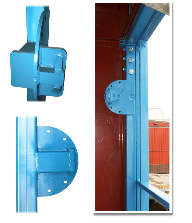 Schweiss Build Your Own Door - cylinder mounts and brackets - pictures