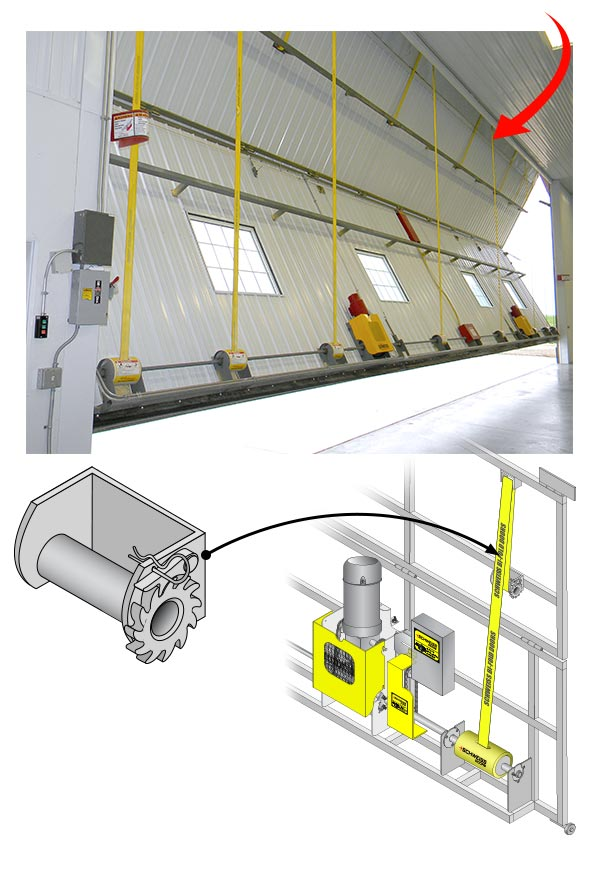 Clean Design of Lift Straps make replacing cables easy