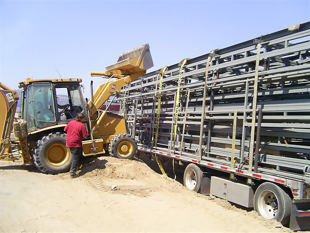 equipment to unload bifold and hydraulic doors