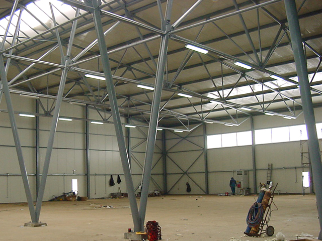 inside view of european hangar with bifold doors