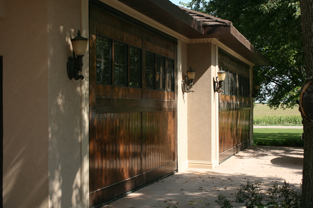 outside view bifold garage doors