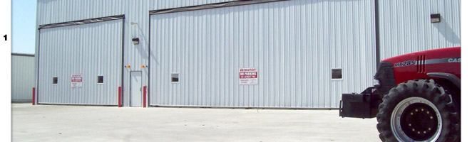 Hinton Equipment Shop has Hydraulic Doors