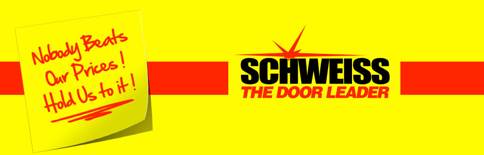 Schweiss the Door Leader Nobody beats our prices! Hold Us to it! Manufacturing: Hydraulic doors...superior quality bifold doors... with lift straps and latch straps designer doors...to fit any application