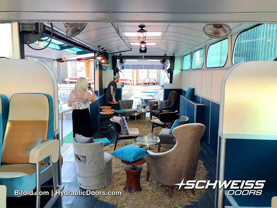 Bobby Bus is outfitted with Schweiss Hydraulic Doors