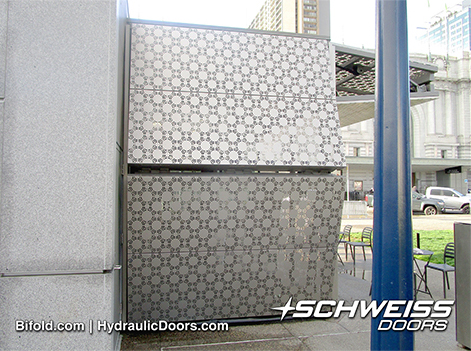 Schweiss Bifold Lifstrap doors lifting up