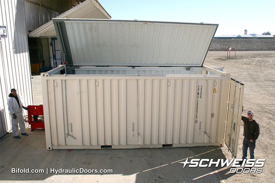 Schweiss Container with Hydraulic Pump next to it