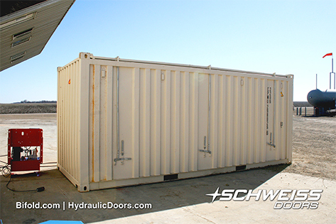 Schweiss Container Doors with Hydraulic Pump