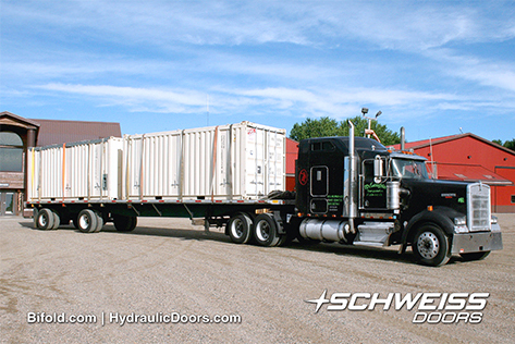 Schweiss Container Doors are Loaded and ready For Delivery