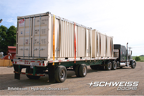 Schweiss Container Doors are leaving the factory