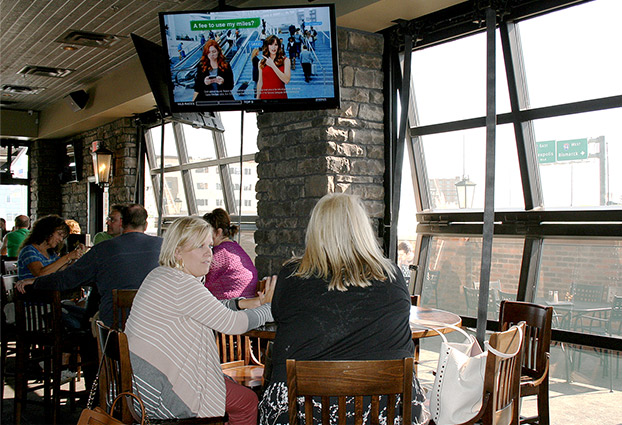 Blarney Stone Irish Pub ordered bifold doors with photo sensors and top drive motors