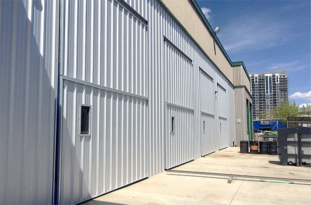 Cubex doors make it convenient for ventilation and for vendors to drop off materials
