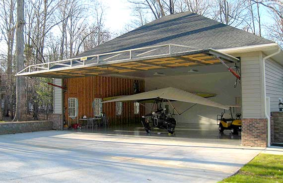 Quality is number one concern for hangar home doors for both Schweiss and Halver