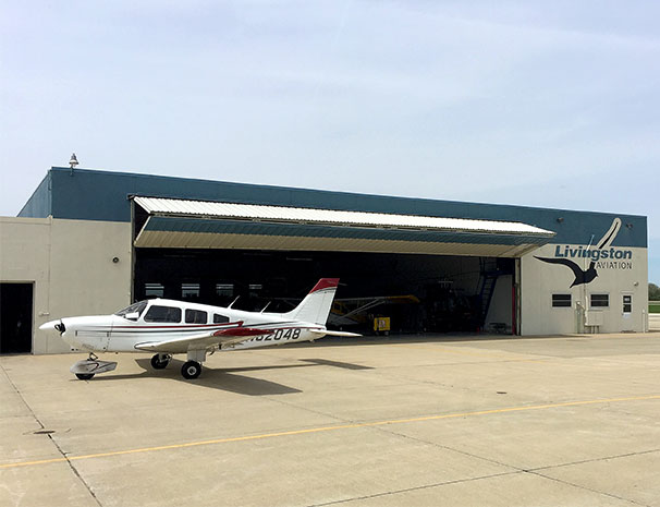 Livingston aviaton has mulitple hangars including corporate jet hangars