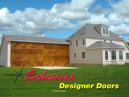 Tall Designer Door on Hangar Attached to Home