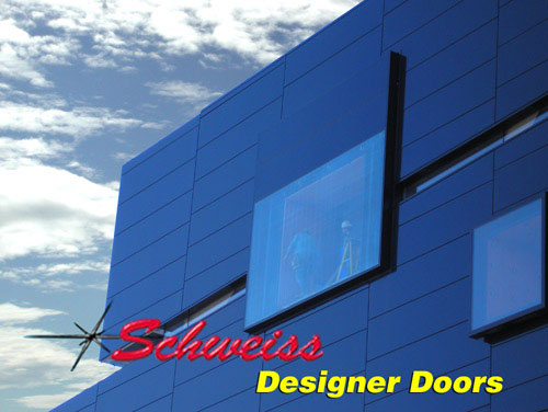 Close up of Designer Hydraulic Doors at Guthrie Theater