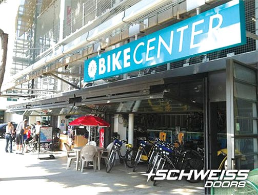 California Bike Transit with a Schweiss Bifold door