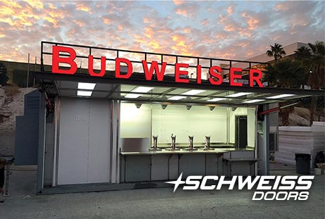 Budweiser food/drink stand hydraulic doors
