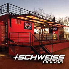 Schweiss Container Doors all lit up