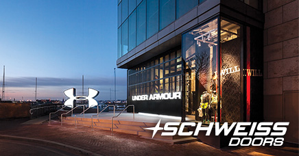 Under Armour's storefront door is closed